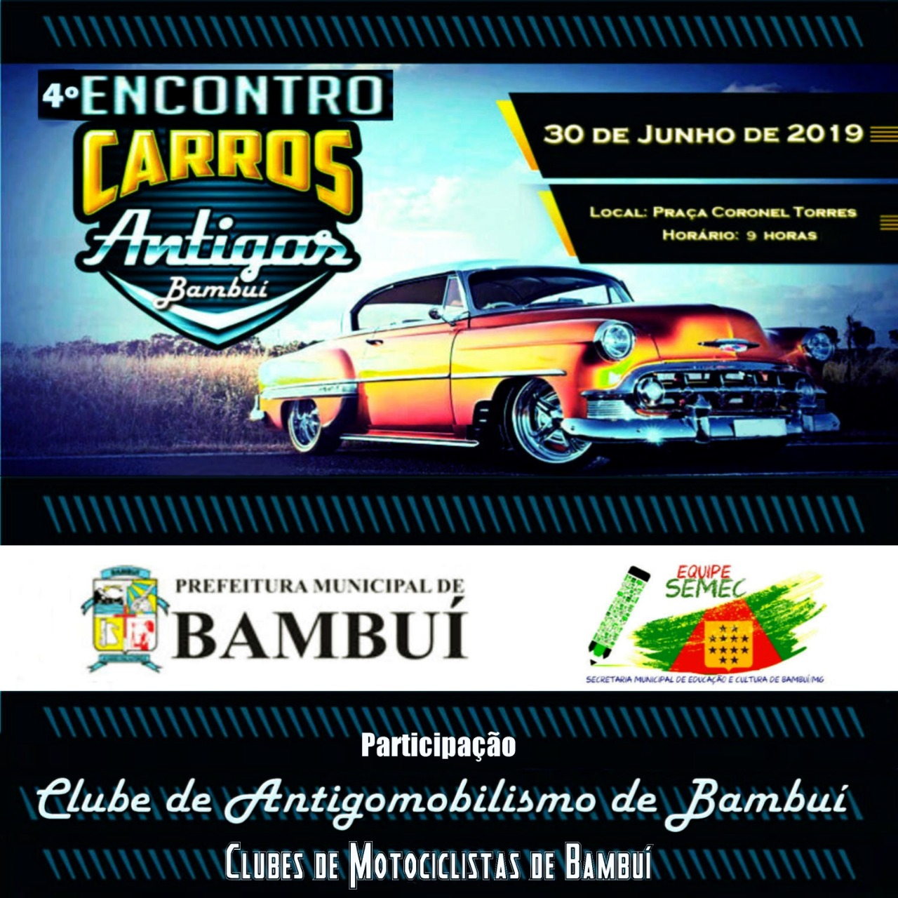 4º ENCONTRO DE CARROS ANTIGOS