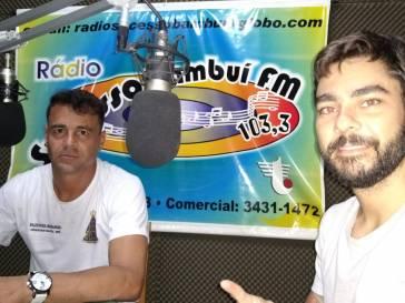 Futebol solidário foi o tema da entrevista nas rádios