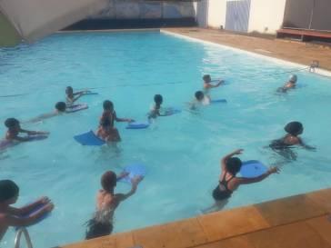 Frequência nas aulas de natação