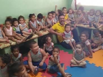Prefeito Olívio visita a Creche Dona Mariquinha