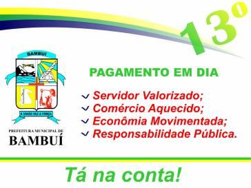 Prefeitura de Bambuí antecipa pagamento do 13º salário