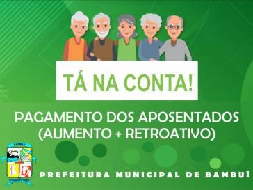 Aposentados e pensionistas da Prefeitura recebem aumento