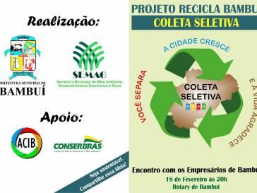 ACIB entra na parceria do Projeto Recicla Bambuí