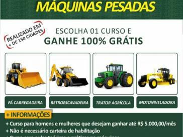 Prefeitura oferece curso gratuito de máquinas pesadas