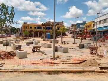 Praça Coronel Tôrres ganha novas árvores